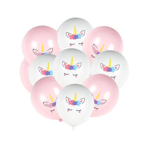 12 zoll auf lager 2,8G 10pcs set schule festival kinder favor Cute Unicorn Thema party dekoration für geburtstag latex ballon