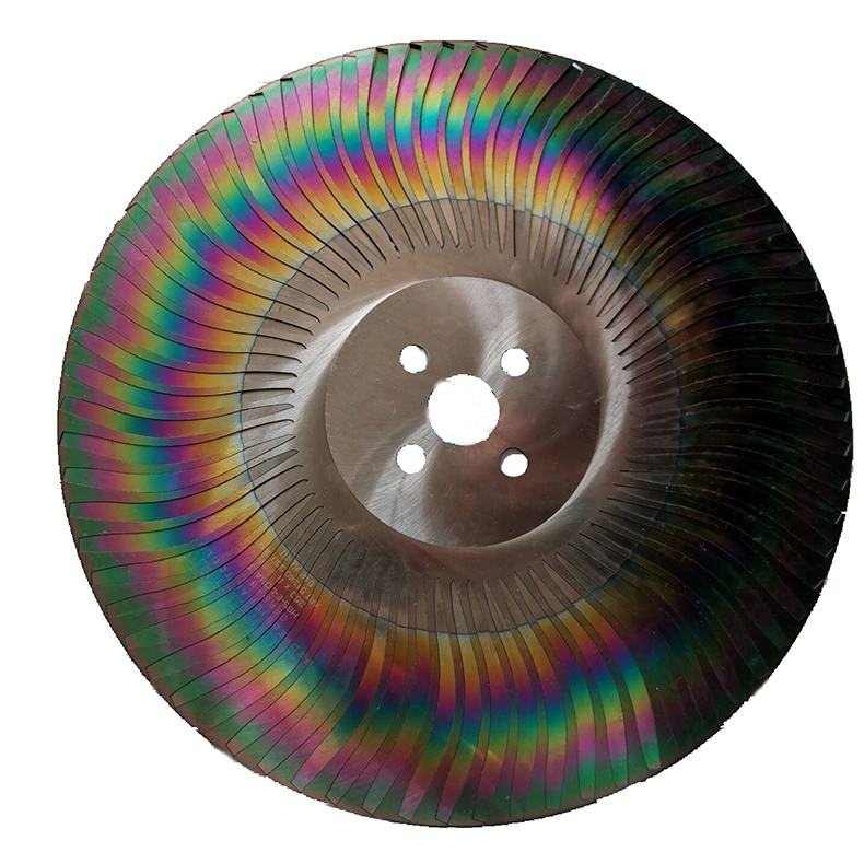 karnasch rainbow color M42 Hss tari saw blade already cut to a blade for cockfighting