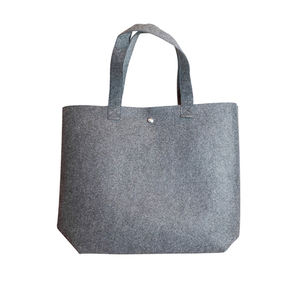Custom Logo hand made polyester felt carry shopping tote gift bag, Eco Friendly Custom Women Felt Bag