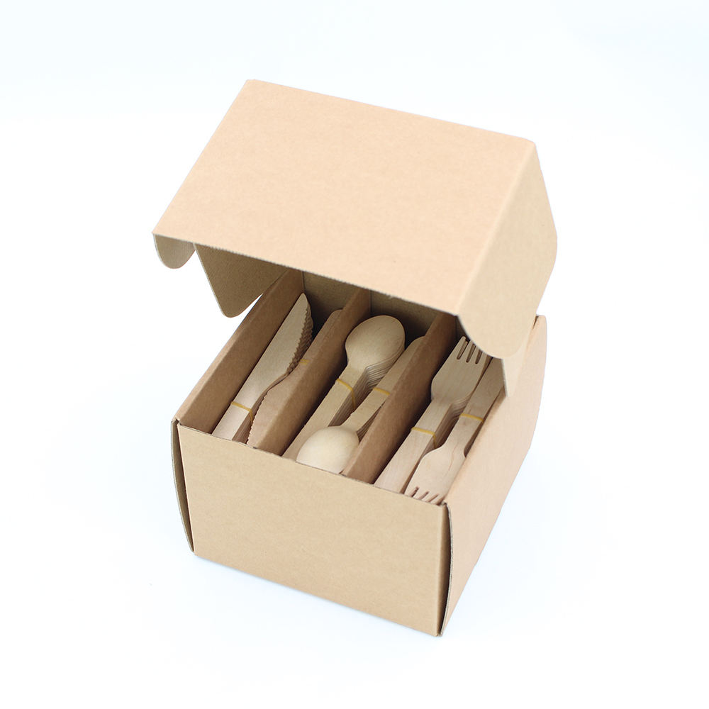 Low Price Excellent Wooden Handle Disposable Cutlery Case For Wedding