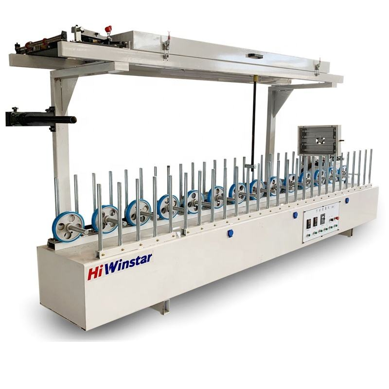 BXW300C woodworking machinery pvc pur profile laminating machine