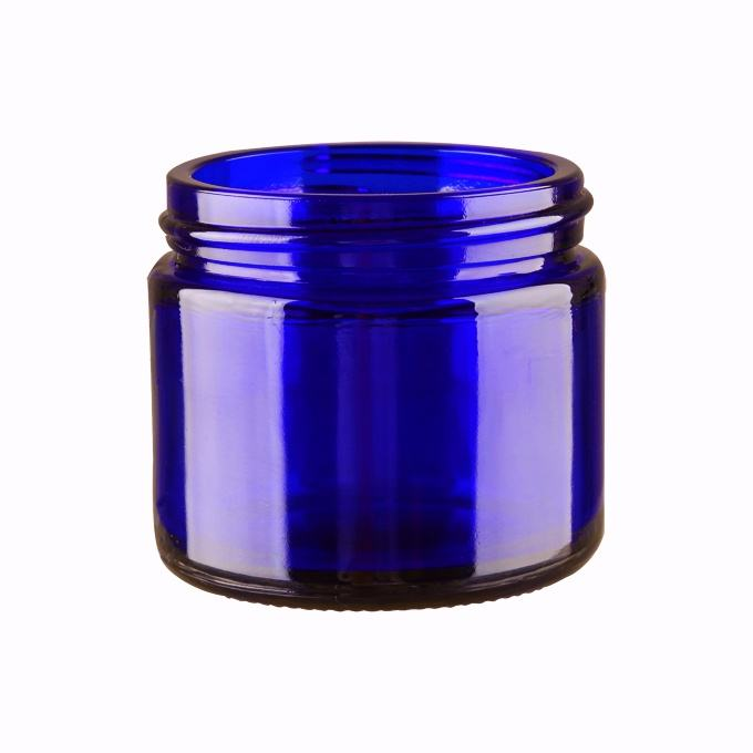 High quality blue glass bottle in 50ml