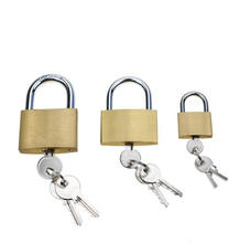 High Quality Sample Logo Available Cheap Price Safety 20 30 40 mm  Gold Brass Padlock