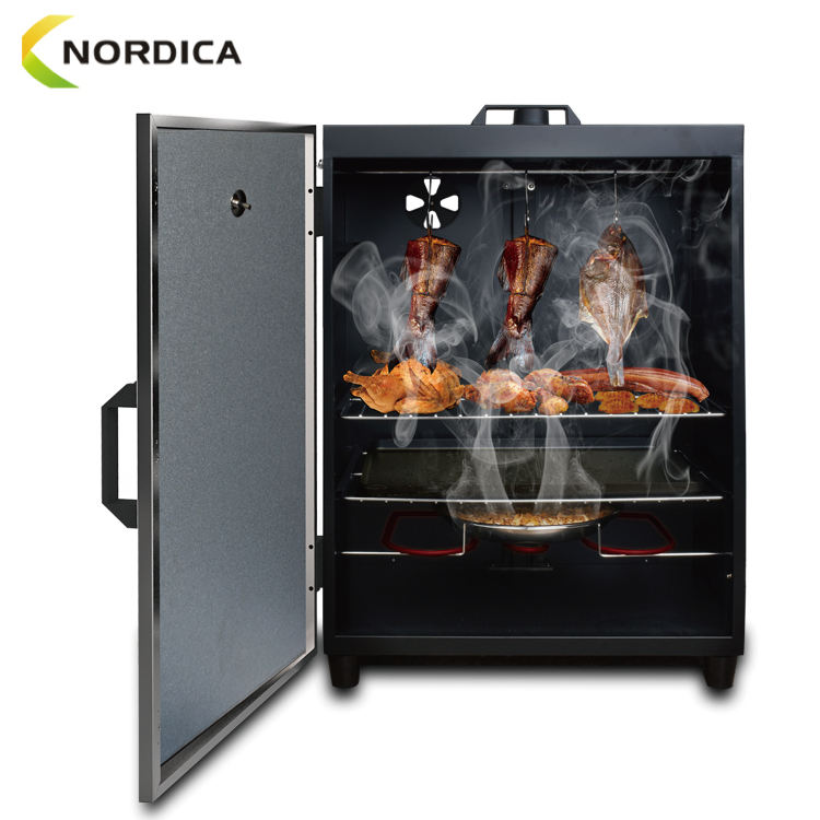 Electric BBQ Grill Smoker High Quality 1600W Outdoor Smokehouse