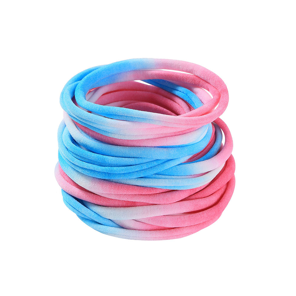 2020 children fashion girl hair accessories nylon headband colorful baby tie-dye elastic ribbon hair ribbon for children