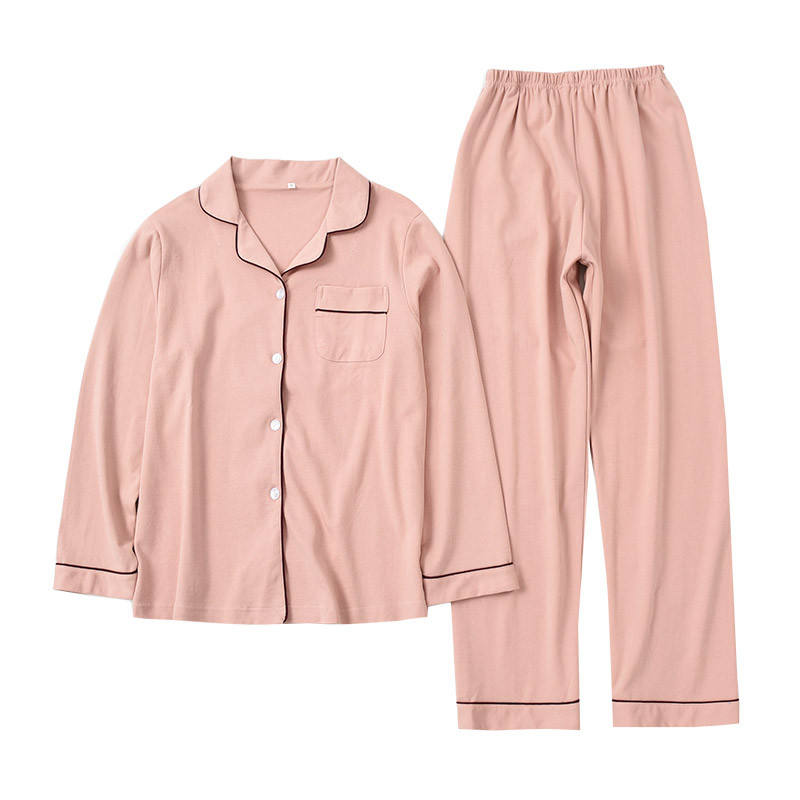 OEM Custom High Quality Womens Organic Bamboo Cotton Pajamas Women Long Sleeve Home Wear