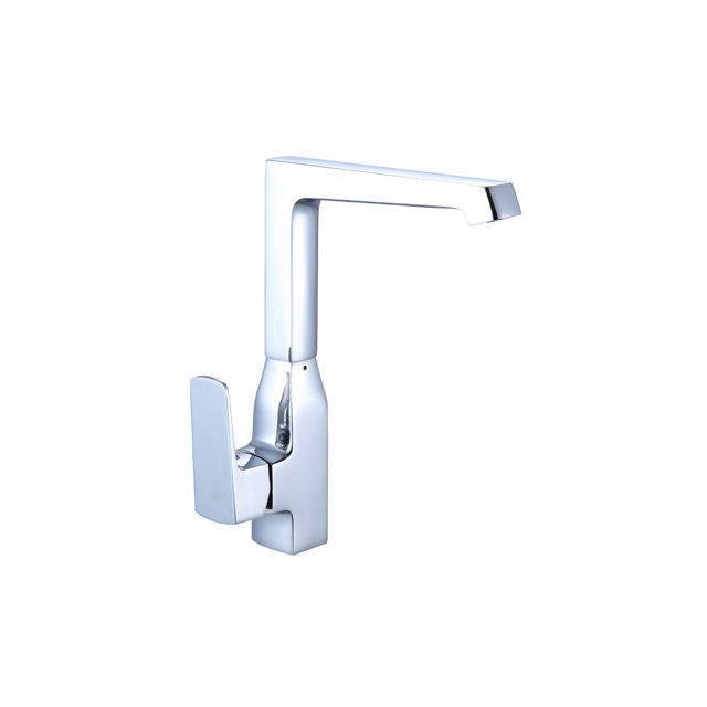 Square brass single handle health kitchen faucet mixer tap