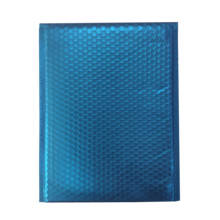 Express packaging poly bubble mailer metallic teal blue