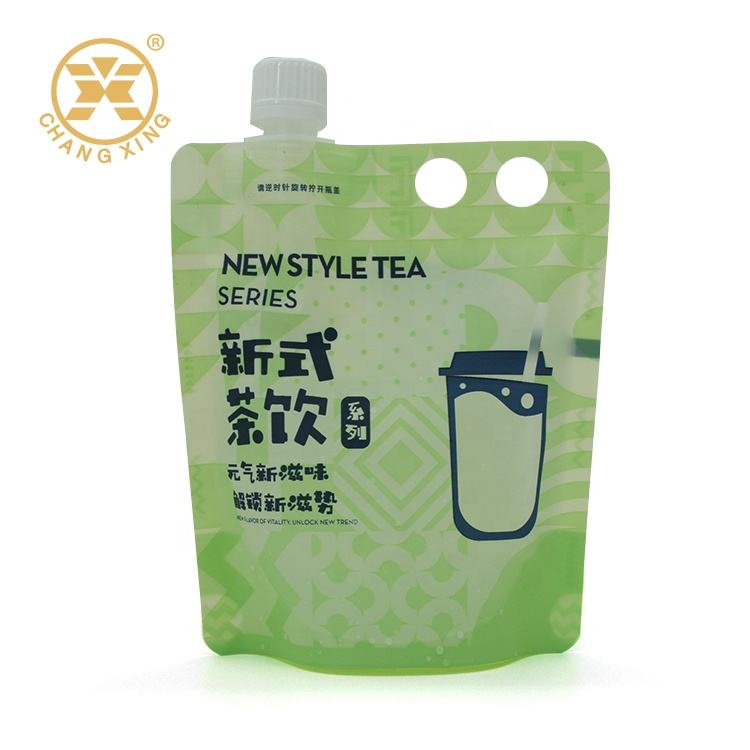 Packaging Plastic Bag With Handle Stand Up Pouches With Zipper For Food Packaging Zip Lock Bags With Logo Custom Plastic Bag