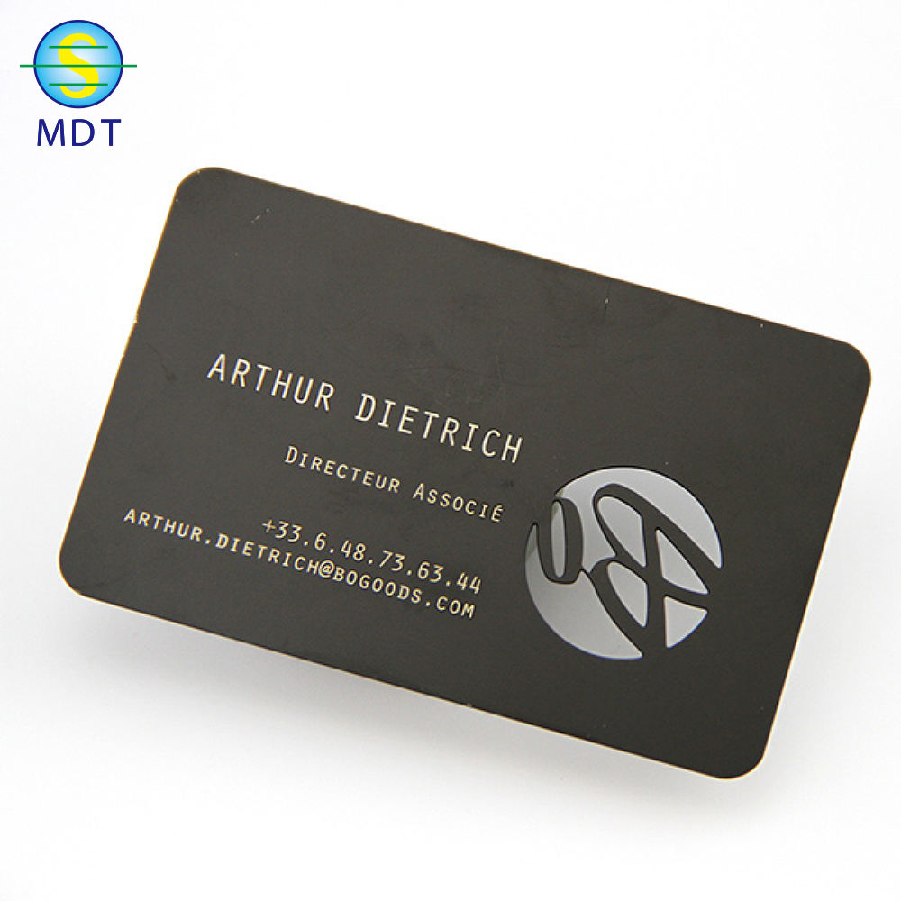 High quality engraving cheap metal cards