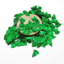Colorful Custom Green Christmas Tree Shape Sequin For Diy Craft