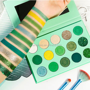 Private Logo High Quality Cosmetics Makeup 15 Color Glitter & Matte & Shimmer Eyeshadow Palette