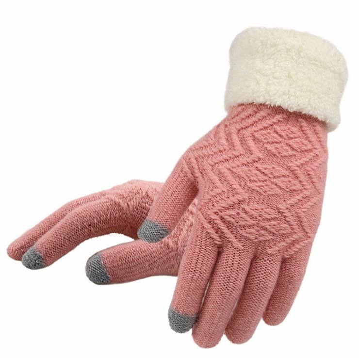 Women's Winter Touchscreen Stretch Cashmere Magic Gloves Warm Wool Knitted Thick Warm Gloves for Women
