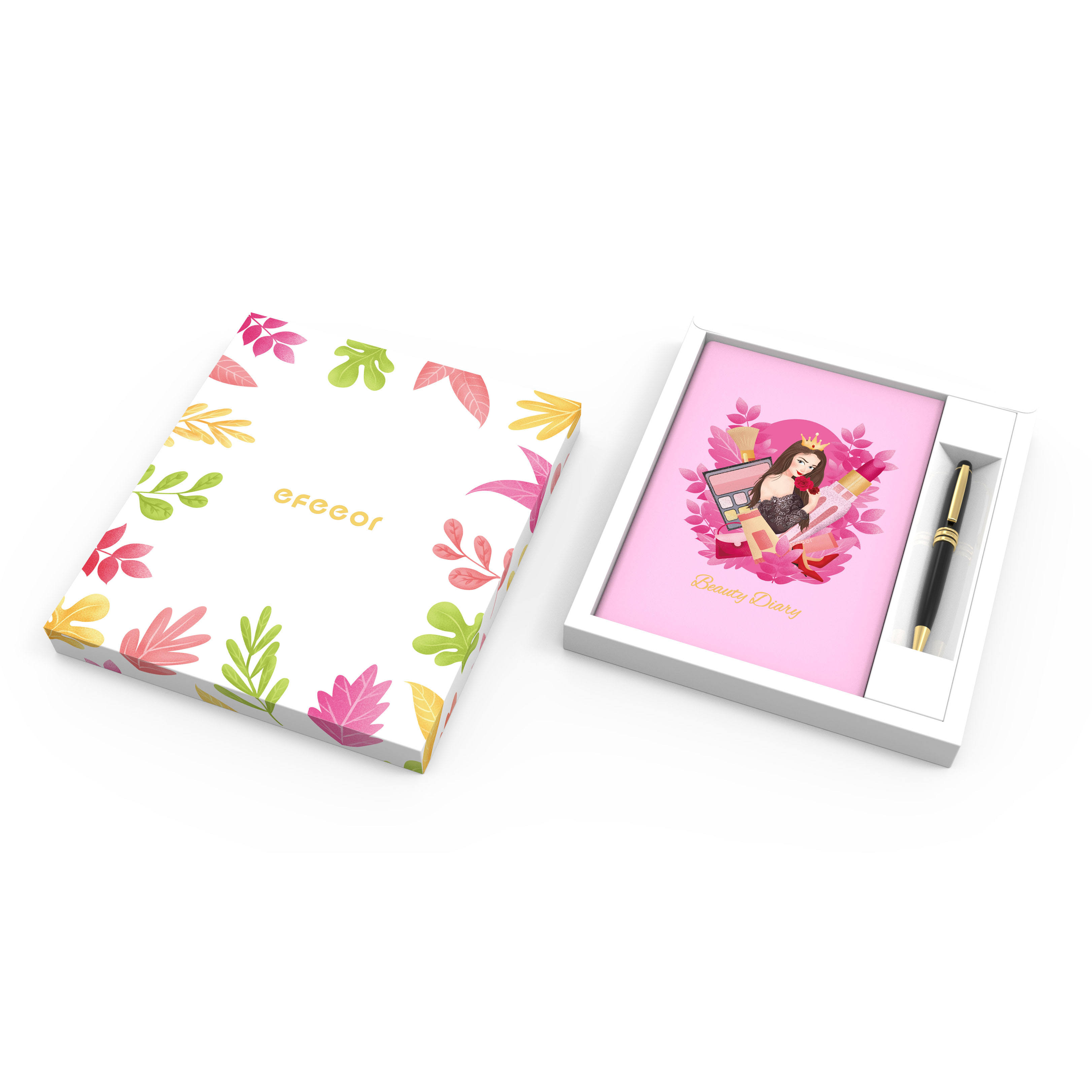 China Custom Luxury School Office A5 Stationery Gift Set Cute Girls Notebook