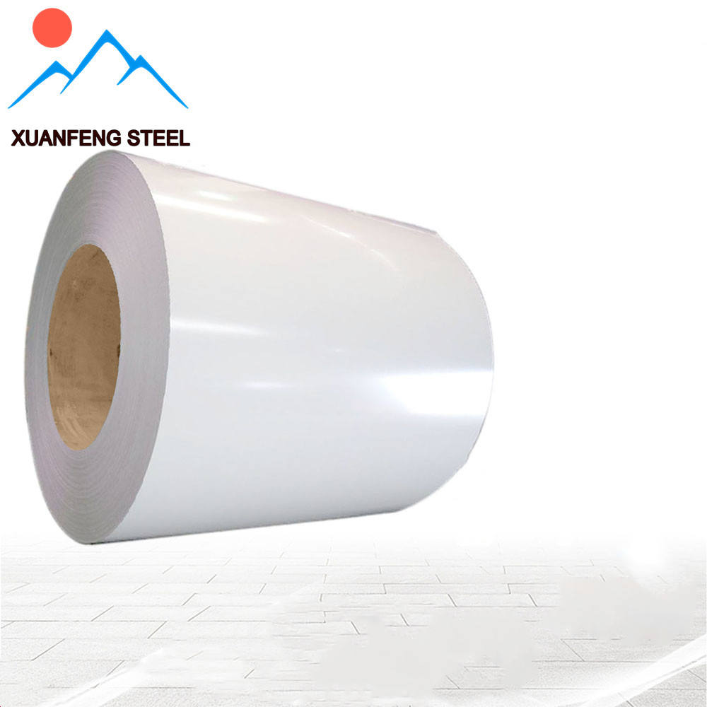 Xuanfeng steel Ral 9003 0.18mm PPGI Color Coated Galvanized Steel coil for whiteboard