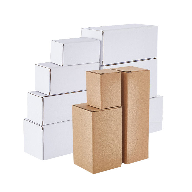Custom Size Kraft Paper Cardboard Corrugated E-Commerce Packing Box Express Shipping Carton