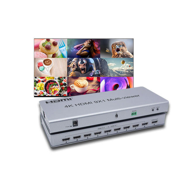 9-Port HDMI/RS-232 Multiviewer W PIP/Dual/Quad/Full