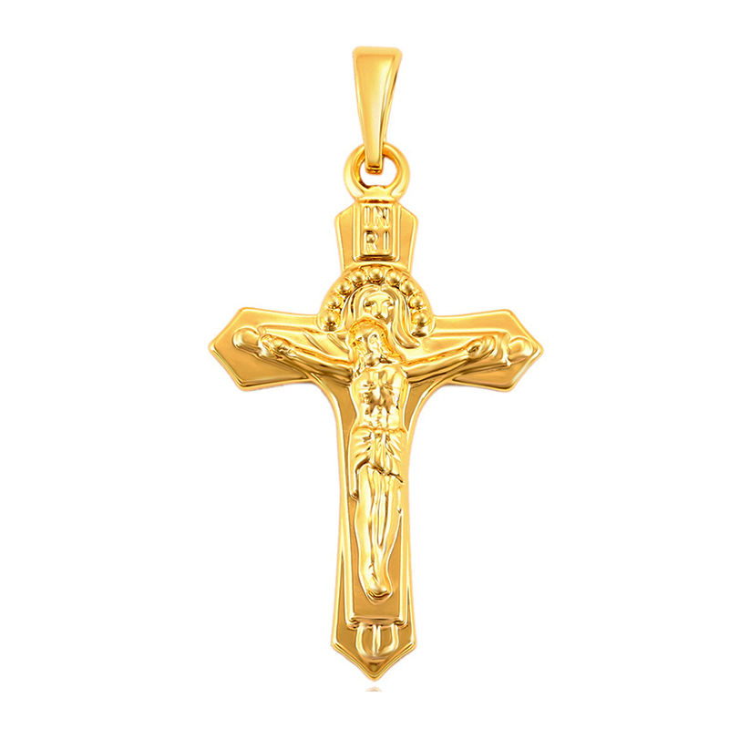 35823 Xuping religion gold color fashion jewelry pendant Jesus cross pendant