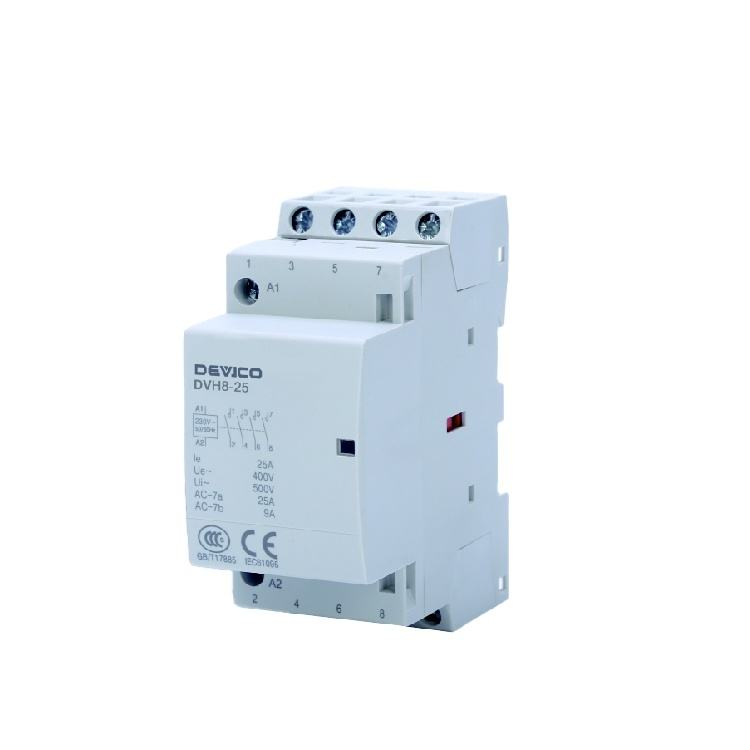 Made In China Household Contactor Modular Contactor 4P Electric Circuit Home Use AC Contactors DVH8-25