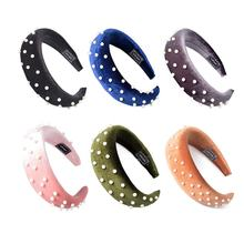 2020 Creative Newest Fashion Pearl bag Sponge Flannelette Headband Hair Accessories