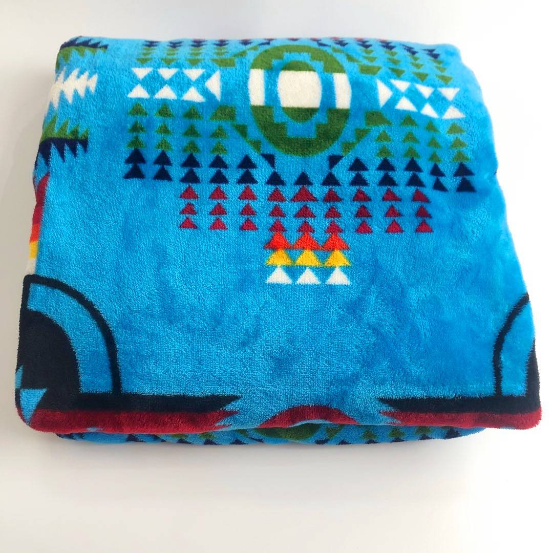 Competitive price high quality super soft lovely printed native flannel throw fleece blanket wholesale
