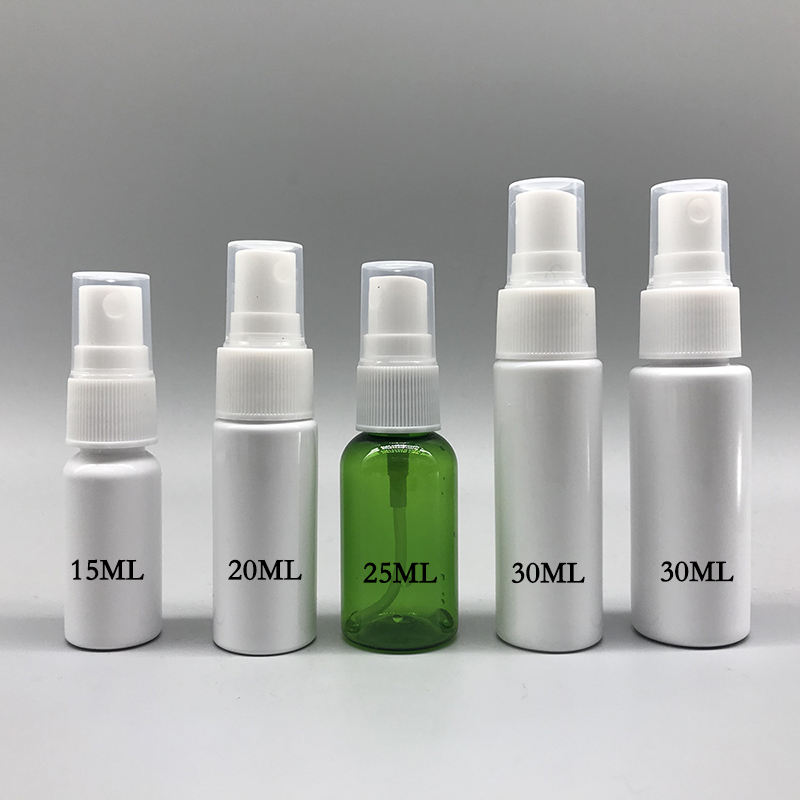 Manufacture Plastic PET 15ml 20ml 25ml 30ml clear fine mist Spray Bottle for perfume cosmetic