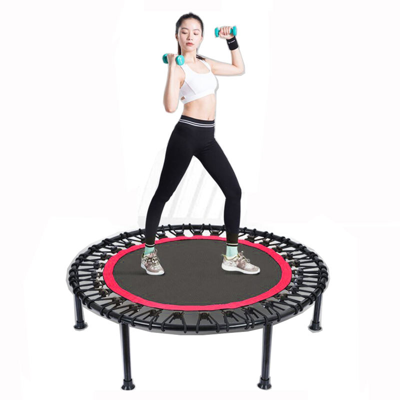 Trampoline with Adjustable T-Bar for Adults and Children Small Exercise Fitness Trampoline