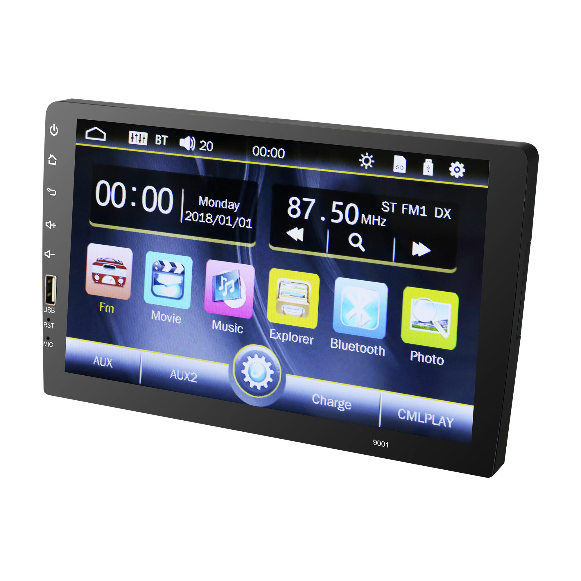 2 DIN Android Mobil Stereo Universal Gps Navigasi 9 Inch Mobil Radio