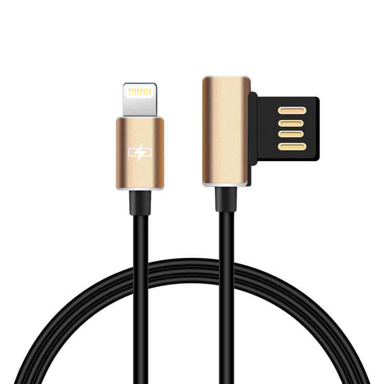 Certificado de IMF blanco 3 pies de ángulo recto un Cable USB para iPhone cargador de cable de datos para iphone 8