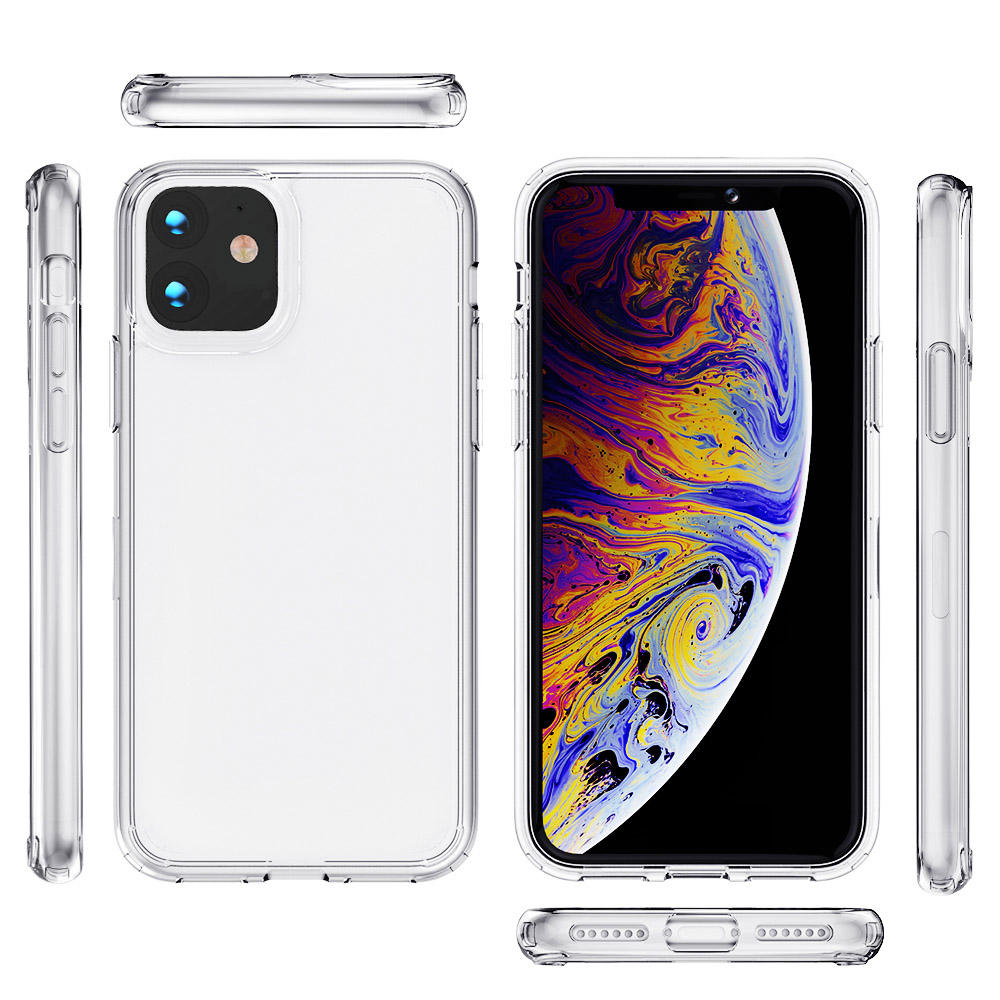 PC TPU white transparent base design your own custom for iphone 11 12 accessories phone case