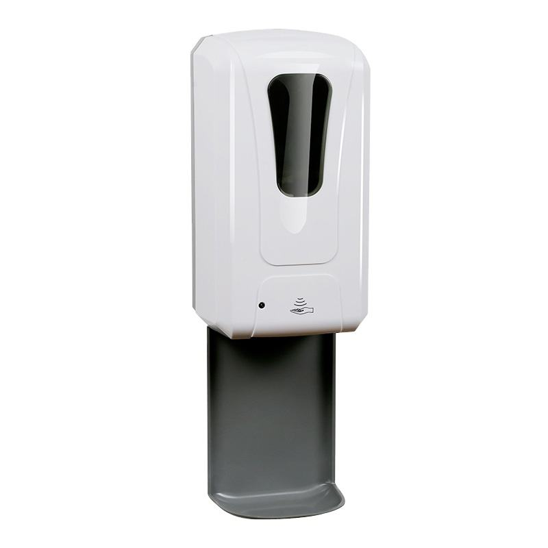 New design touchless sensor gel or Alcohol automatic hand soap dispensers with drip tray wall mounted