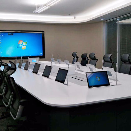 Motorized tv lift mechanism computer monitor meeting room table lcd conference system pop up motorized lift