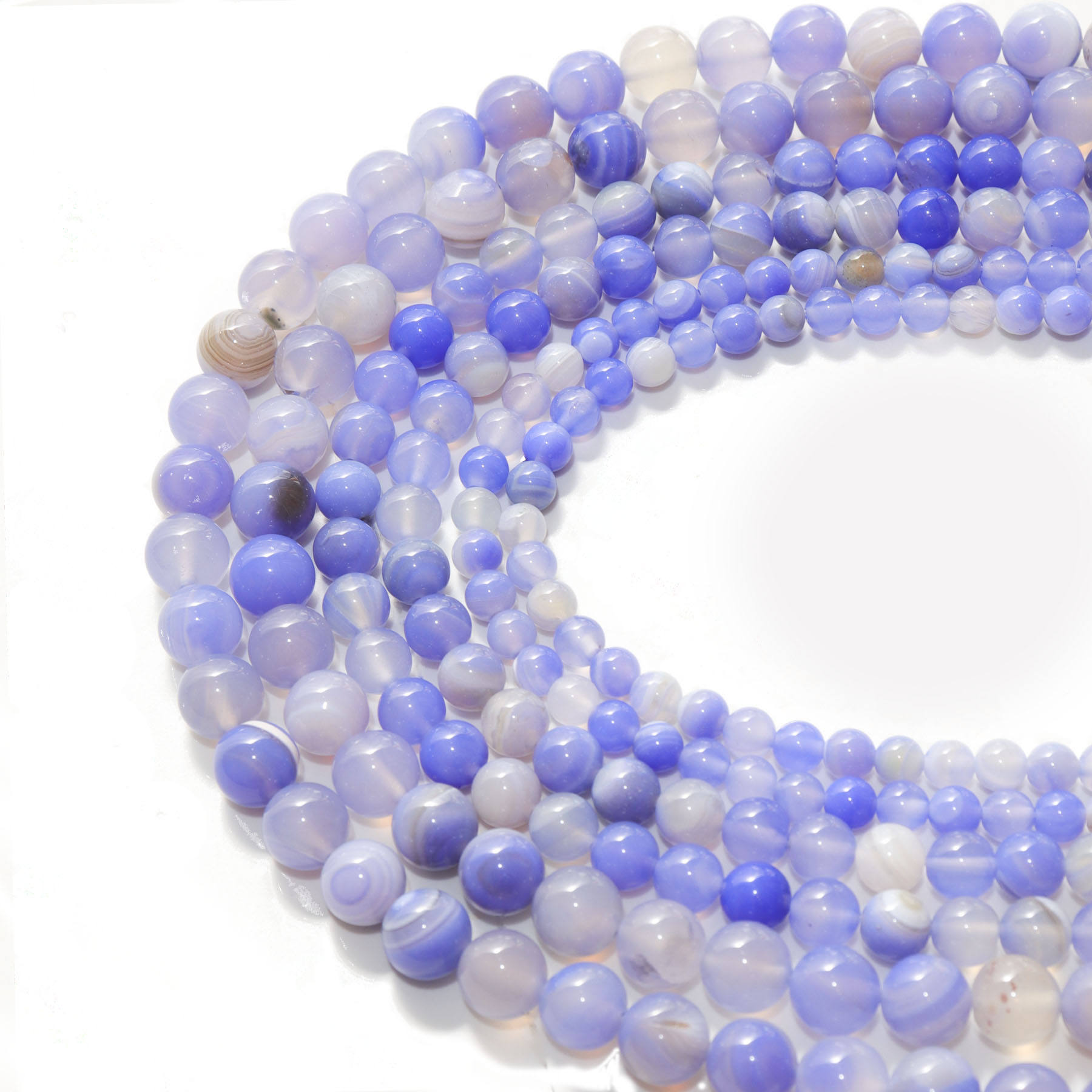 Natural Stone Beads Blue Dot Agate Sodalite Stone Beads 6mm 8mm 10mm Bead DIY Bracelets Making