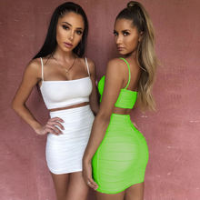 Super September 2020 Trend Style Sexy Women Clothing Two Pieces Party Girls Mini Off Shoulder Dress