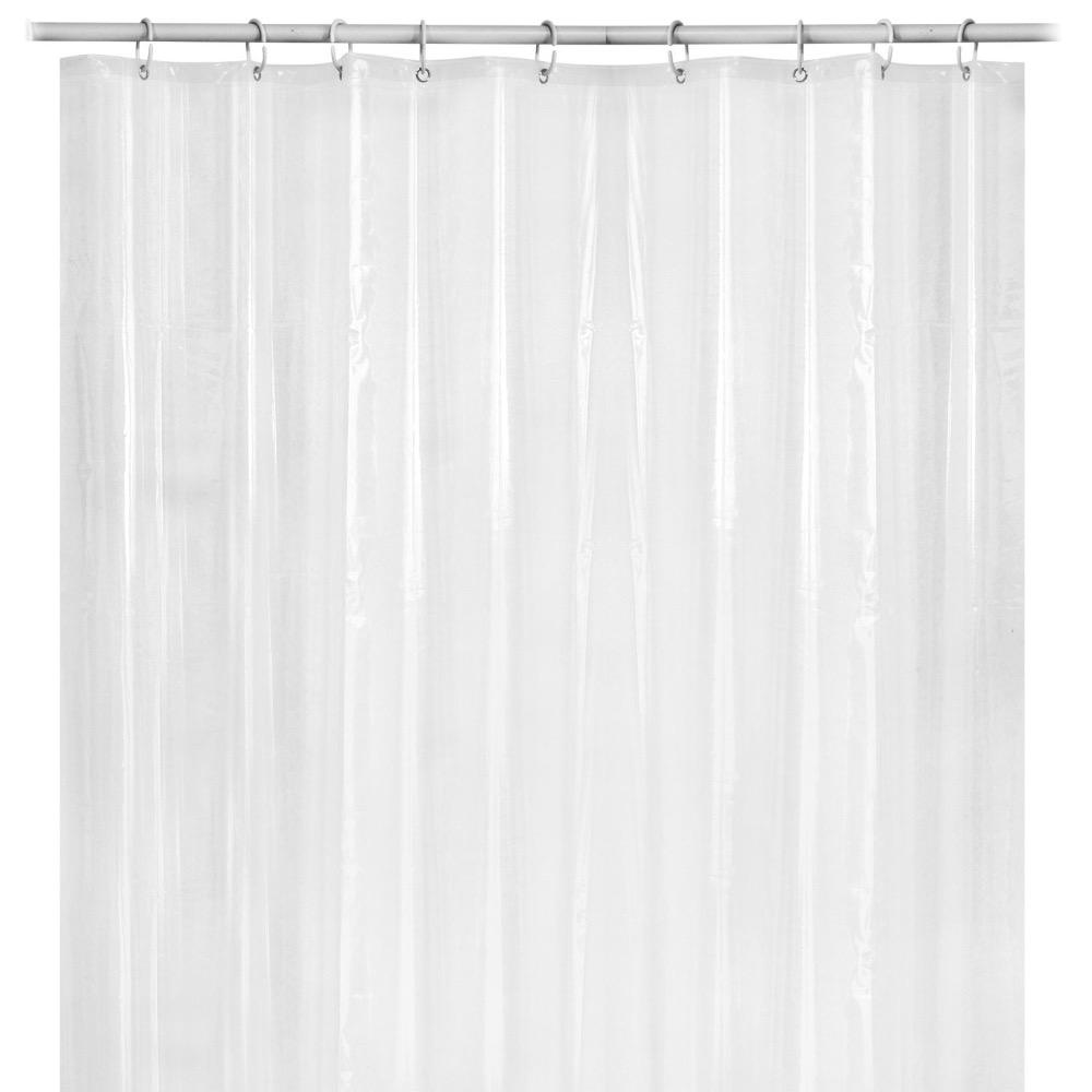 Frost Mildew Resistant Vinyl Shower Curtain Liner Waterproof Rust Proof Grommets 72/'/' x 72/'/' No Chemical Odor HomeCo Design Anti-bacterial