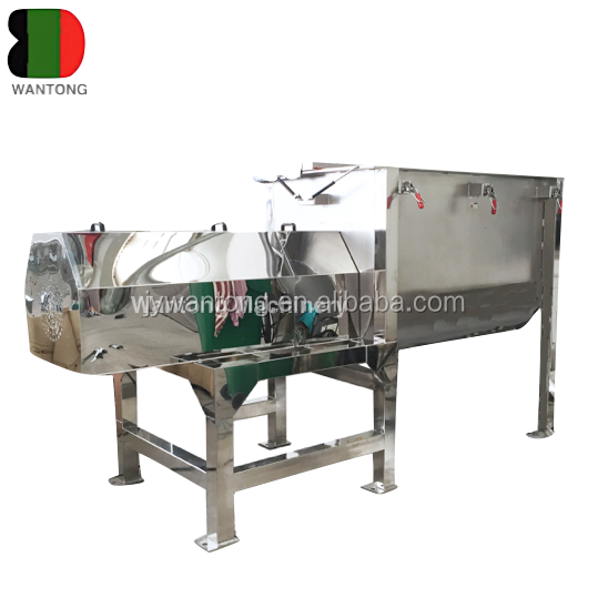 WLDH liquid wet dry heating jacket starch seeds sugar powder granules particles horizontal mixing ribbon mixer blender