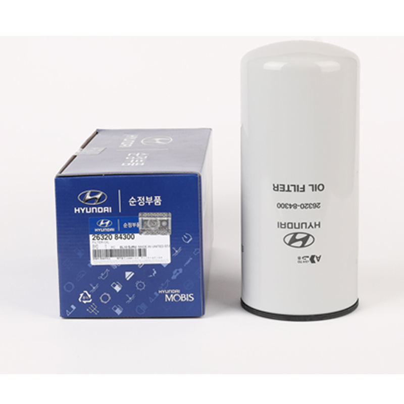 High performance car engine oil filter from KOREA white