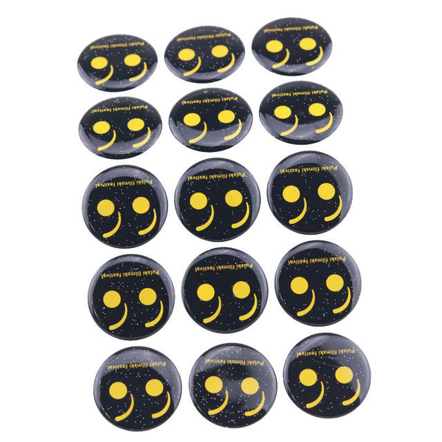 15 Pieces Custom Logo Printing DIY Craft Bottle Caps Pendants Self-Adhesive 3D Epoxy Dome Sticker
