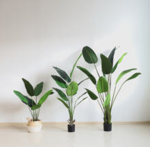 uv artificial plants artificial plastic banana tree fake banana bonsai trees bird of paradise