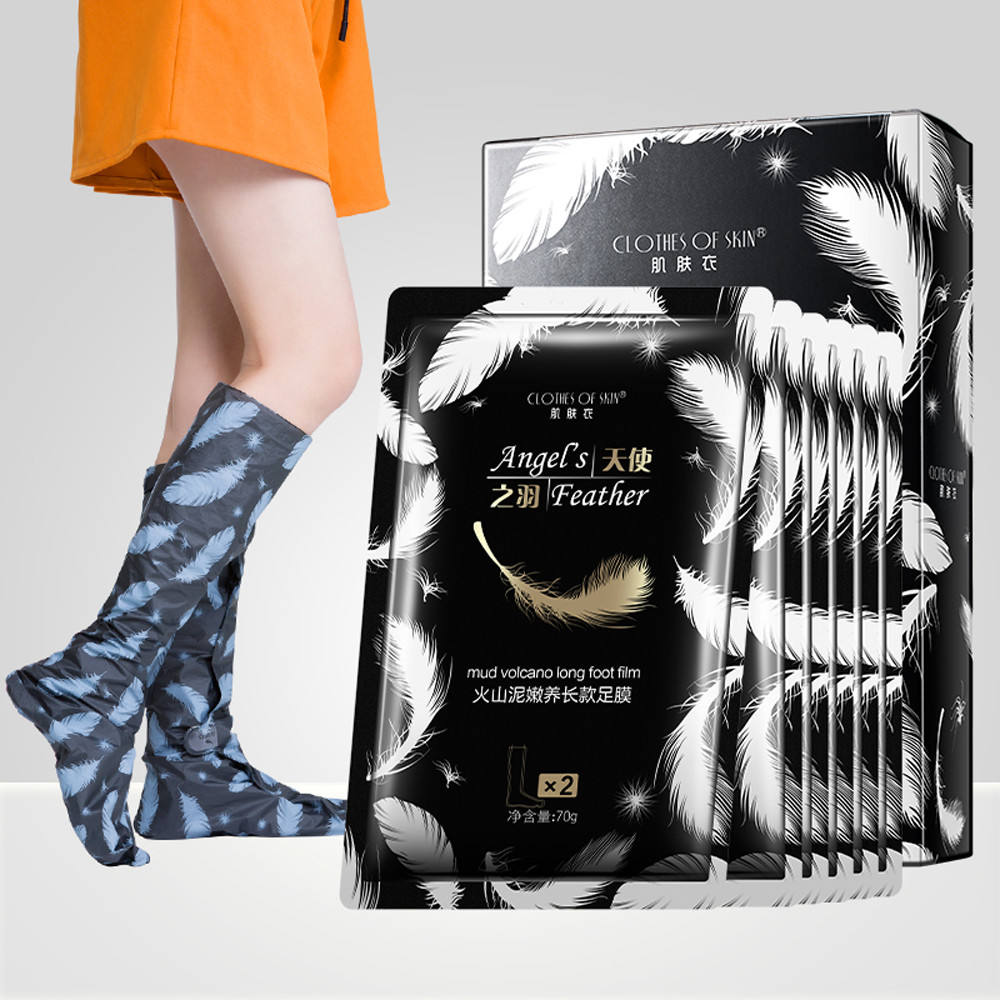 Natural organic volcanic mud foot film exfoliating foot film private label foot film
