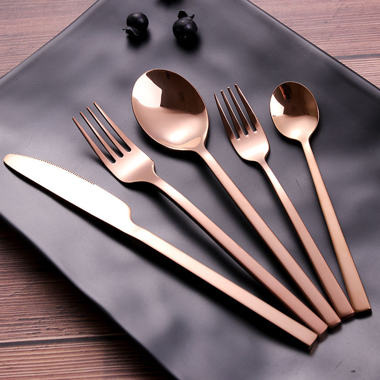 Eco Friendly Stainless Steel Inox Cutlery Set Cubiertos de Acero Inoxidable