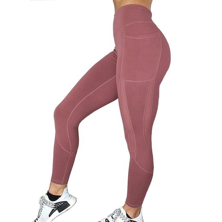 Running Workout Yoga Pants Polyester Spandex Custom Label Sports Leggings Women Leggin