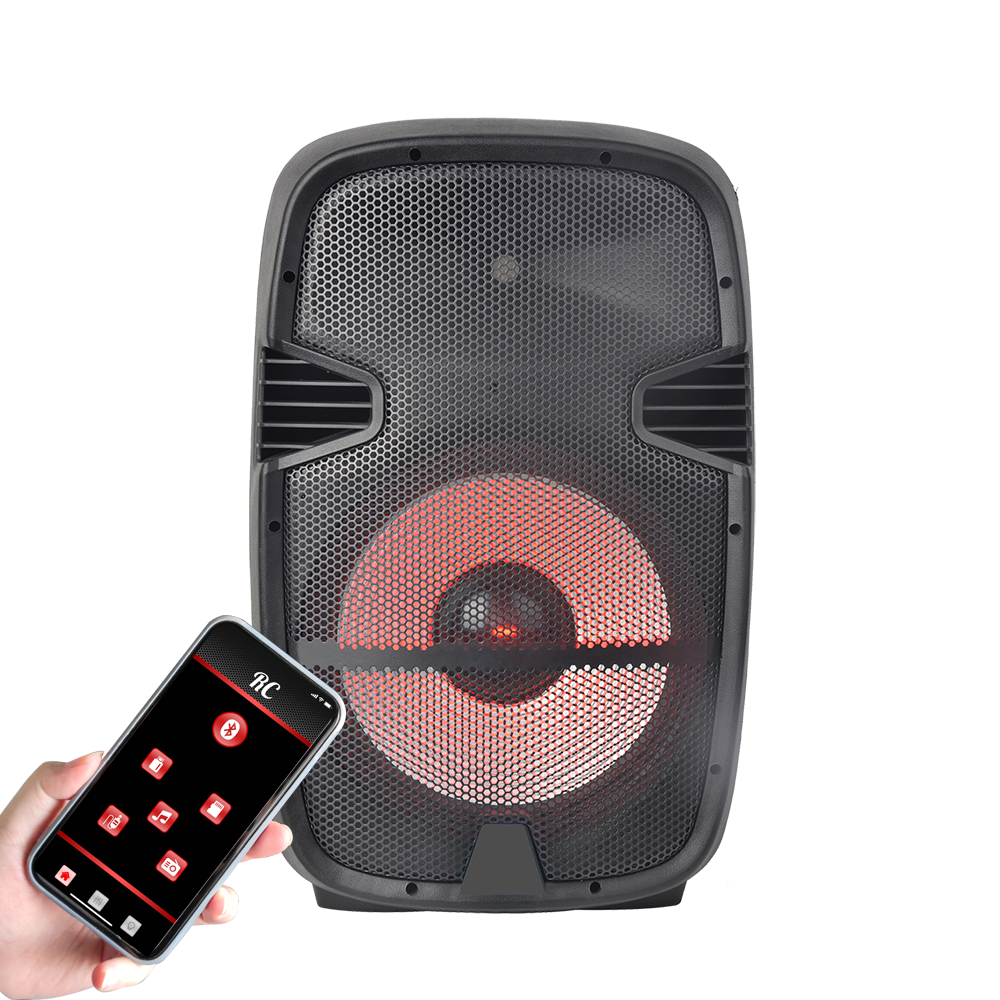 Accuracy Pro Audio PML15AOH-LED4 15'' Inch 100W Professional Class AB Plastic Active Speaker With APP Control Powered Speaker