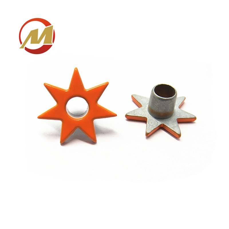 Nuevo diseño de la forma de ojales óxido prueba naranja ojales de Metal para prendas de vestir/bolsas/zapatos