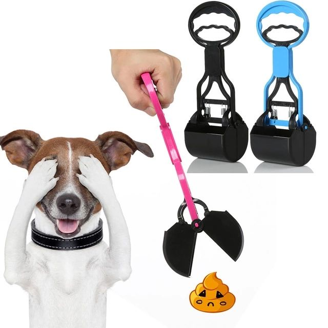 New Design Portable Plastic Small-scale Pet Dog Poop Picker Catcher 28cm Dog Poop Scooper