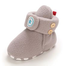 Cute Baby Boy Girl Star Warm Shoes Cotton Casual Shoes Soft Bottom Frist Walking Shoes