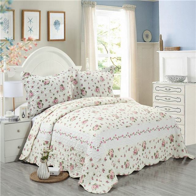 China supplier patchwork bedspreads printed with cheap price