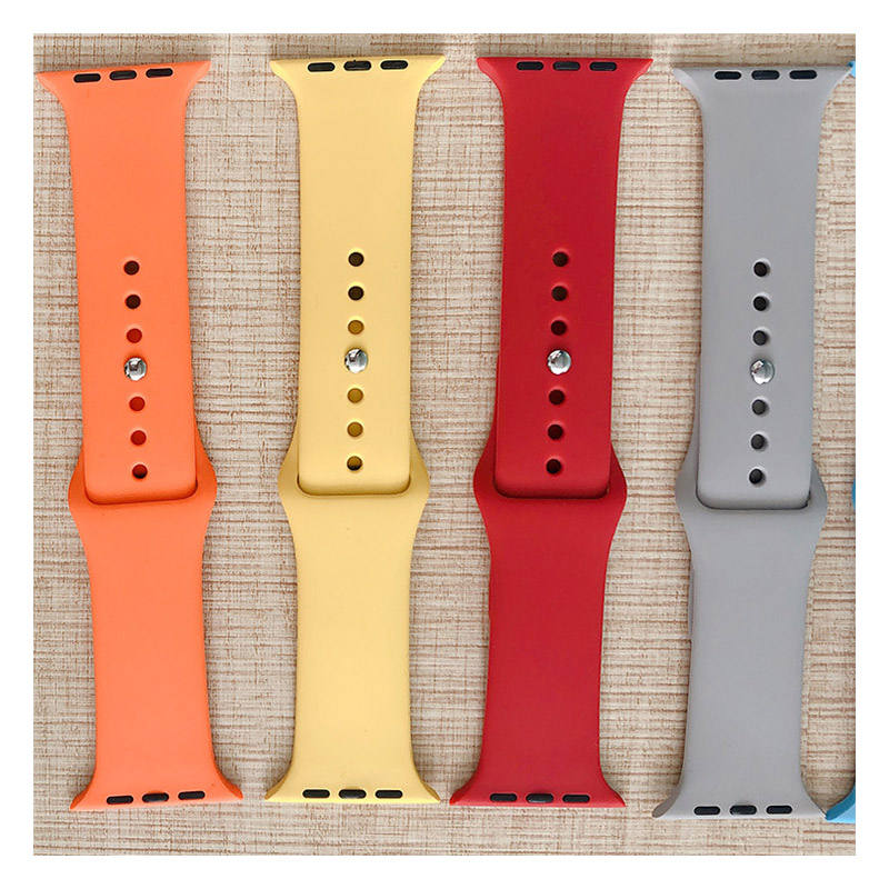 Best selling cheap replacement apple watch band silicone colorful strap 38/40/42/44mm for apple watch series 4 5