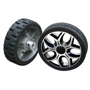 125mm Solid rubber load-bearing active wheel intelligent small wheel , unmanned vehicle AGV, no inflation