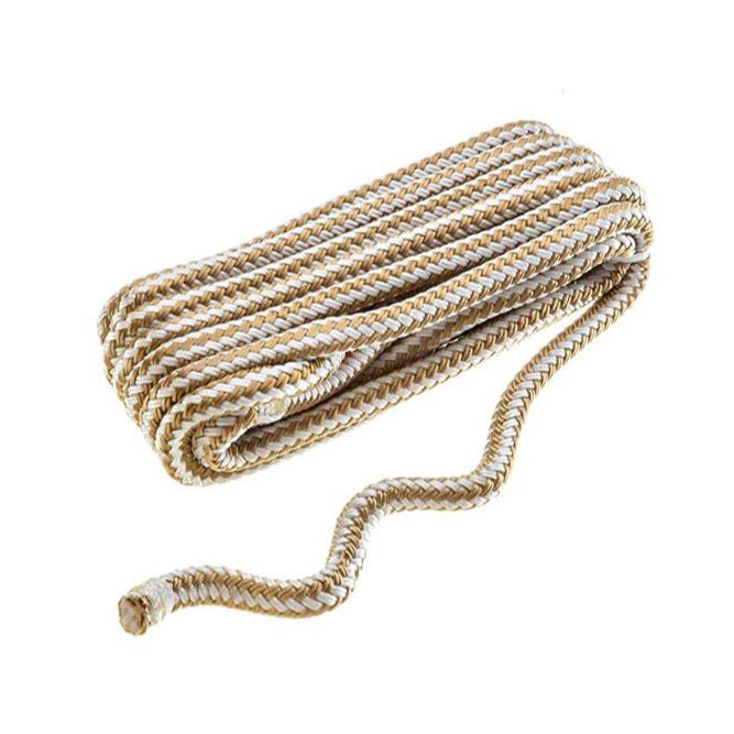 Gold/White Fender Rope for Boating Double Braid Nylon Fender Line